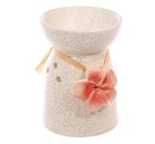 Aromalampa Krämvit Spräcklig med Blomma Utförsäljning