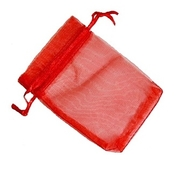 Organzapåse Röd 9x12cm