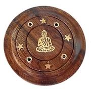 Rökelsehållare Buddha Rund