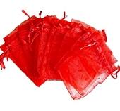 Organzapåse Röd 9x12cm 5st