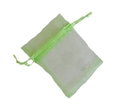 Organzapåse Lime 7x9cm