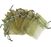 Organzapåsar Mossgrön 7x9cm 5st