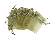 Organzapåse Mossgrön 7x9cm