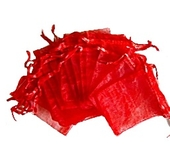 Organzapåsar Röd 7x9cm 5st