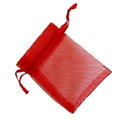 Organzapåse Röd 7x9cm