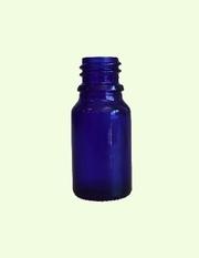 Glasflaska Blå 10ml inkl droppkork