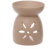Stor Aromalampa Med Blommönster Beige Utförsäljning