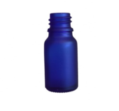 Glasflaska Blå 10ml inkl droppkork Frostat glas