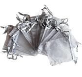 Organzapåsar Silver 7x9cm 5st