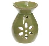 Aromalampa I Keramik Stjärnformade Hål Grön