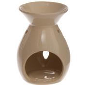 Aromalampa I Keramik Stjärnformade Hål Beige